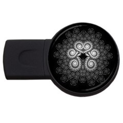 Fractal Filigree Lace Vintage Usb Flash Drive Round (2 Gb)