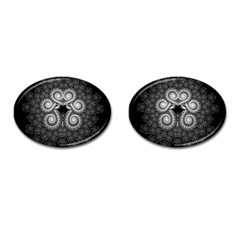 Fractal Filigree Lace Vintage Cufflinks (oval)