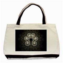 Fractal Filigree Lace Vintage Basic Tote Bag (two Sides)
