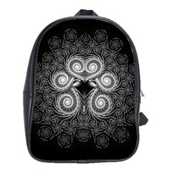 Fractal Filigree Lace Vintage School Bag (large)