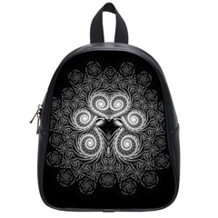 Fractal Filigree Lace Vintage School Bag (small)