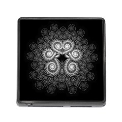 Fractal Filigree Lace Vintage Memory Card Reader (square)