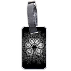 Fractal Filigree Lace Vintage Luggage Tags (one Side)