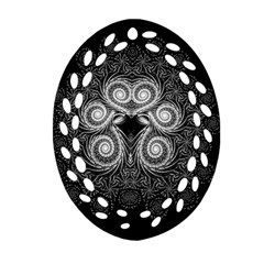 Fractal Filigree Lace Vintage Ornament (oval Filigree)