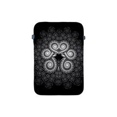 Fractal Filigree Lace Vintage Apple Ipad Mini Protective Soft Cases by Nexatart