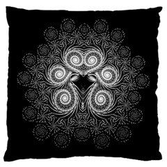 Fractal Filigree Lace Vintage Large Flano Cushion Case (two Sides)