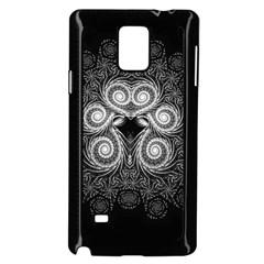Fractal Filigree Lace Vintage Samsung Galaxy Note 4 Case (black)