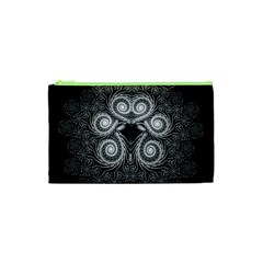 Fractal Filigree Lace Vintage Cosmetic Bag (xs)