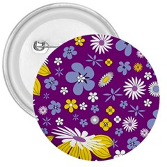 Floral Flowers 3  Buttons