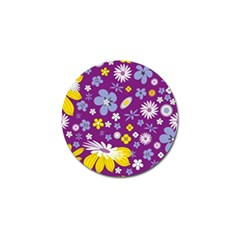Floral Flowers Golf Ball Marker (4 Pack)