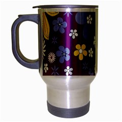 Floral Flowers Travel Mug (silver Gray)