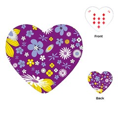 Floral Flowers Playing Cards (heart)