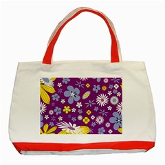 Floral Flowers Classic Tote Bag (red)
