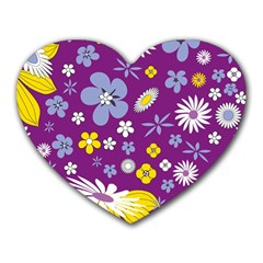 Floral Flowers Heart Mousepads