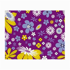 Floral Flowers Small Glasses Cloth (2 Side)