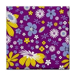 Floral Flowers Face Towel