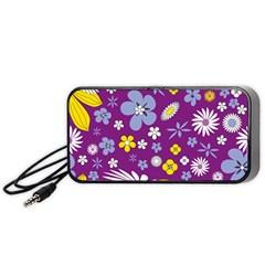 Floral Flowers Portable Speaker