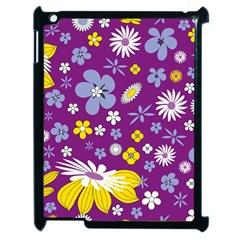 Floral Flowers Apple Ipad 2 Case (black)