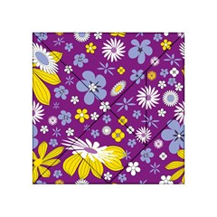 Floral Flowers Acrylic Tangram Puzzle (4  X 4 )