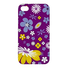 Floral Flowers Apple Iphone 4/4s Premium Hardshell Case