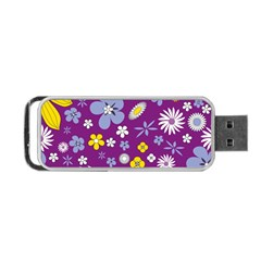 Floral Flowers Portable Usb Flash (one Side)