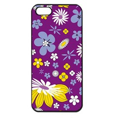 Floral Flowers Apple Iphone 5 Seamless Case (black)