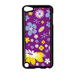 Floral Flowers Apple Ipod Touch 5 Case (black)