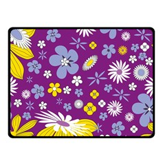 Floral Flowers Double Sided Fleece Blanket (small)