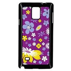 Floral Flowers Samsung Galaxy Note 4 Case (black) by Nexatart
