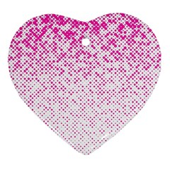 Halftone Dot Background Pattern Ornament (heart)