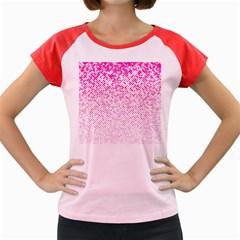 Halftone Dot Background Pattern Women s Cap Sleeve T Shirt