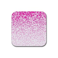 Halftone Dot Background Pattern Rubber Square Coaster (4 Pack)