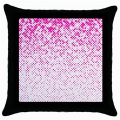 Halftone Dot Background Pattern Throw Pillow Case (black)