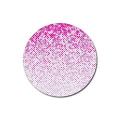 Halftone Dot Background Pattern Rubber Coaster (round)