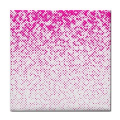 Halftone Dot Background Pattern Face Towel