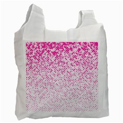 Halftone Dot Background Pattern Recycle Bag (one Side)