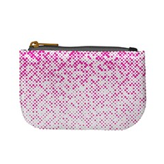 Halftone Dot Background Pattern Mini Coin Purses