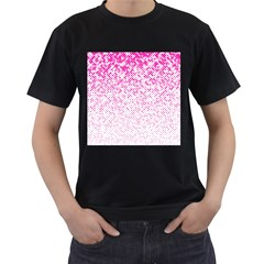 Halftone Dot Background Pattern Men s T Shirt (black)