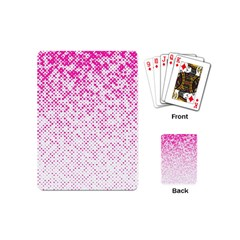 Halftone Dot Background Pattern Playing Cards (mini)