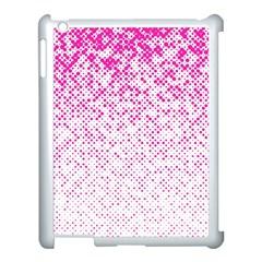 Halftone Dot Background Pattern Apple Ipad 3/4 Case (white)