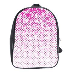 Halftone Dot Background Pattern School Bag (xl)