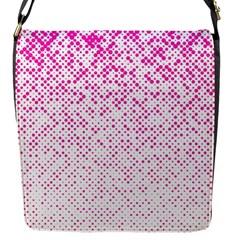 Halftone Dot Background Pattern Flap Messenger Bag (s)