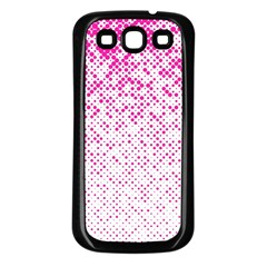 Halftone Dot Background Pattern Samsung Galaxy S3 Back Case (black)