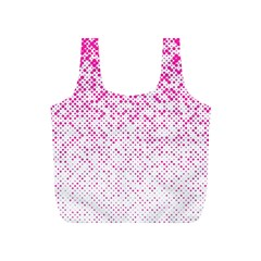 Halftone Dot Background Pattern Full Print Recycle Bags (s)