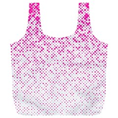 Halftone Dot Background Pattern Full Print Recycle Bags (l)