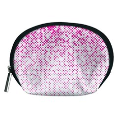 Halftone Dot Background Pattern Accessory Pouches (medium)