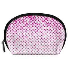 Halftone Dot Background Pattern Accessory Pouches (large)