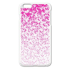 Halftone Dot Background Pattern Apple Iphone 6 Plus/6s Plus Enamel White Case