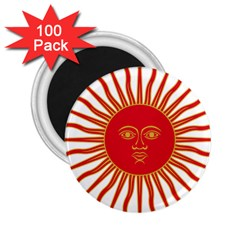 Peru Sun Of May, 1822 1825 2 25  Magnets (100 Pack)  by abbeyz71