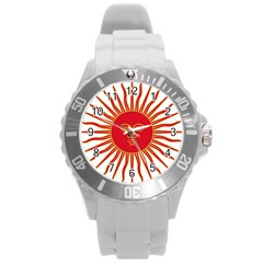 Peru Sun Of May, 1822 1825 Round Plastic Sport Watch (l) by abbeyz71